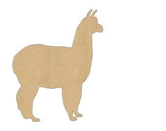 Llama Cutout Shape Laser Cut Unfinished Wood Shapes, Craft Shapes, Gift Tags, Ornaments #786 All Sizes