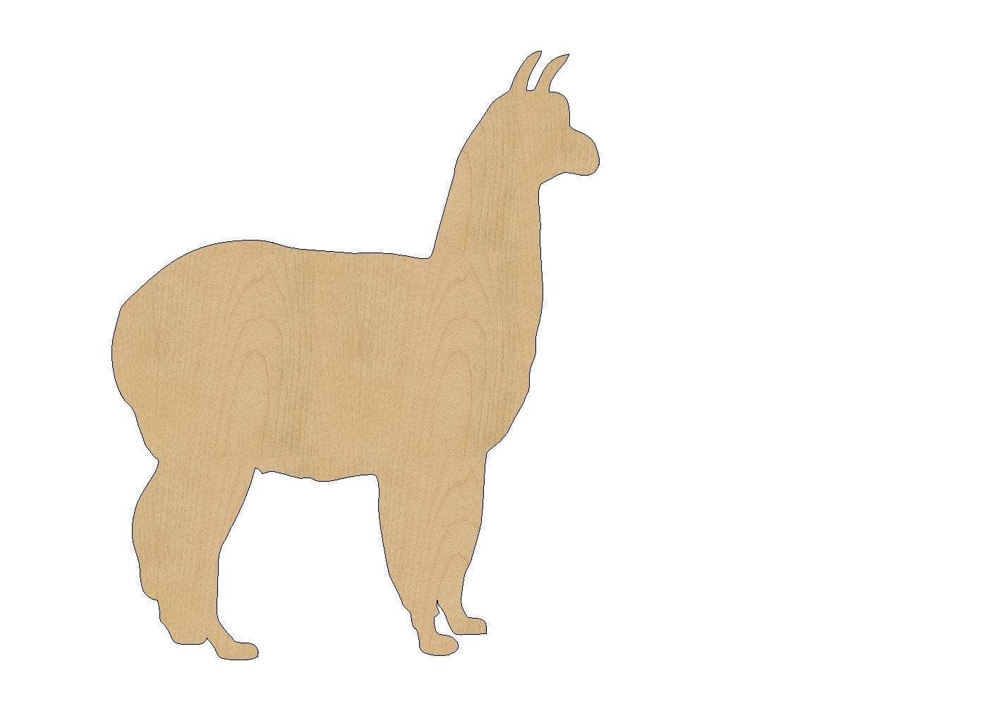 Wooden animals ornaments - Llama Cutout Shape Laser Cut Unfinished Wood Shapes Craft Shapes Gift Tags Ornaments