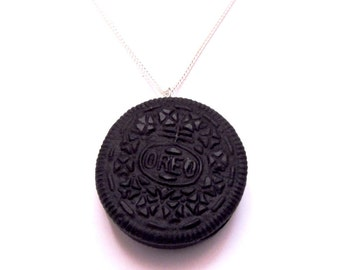 Oh-mazing Oreo Cookie Biscuit Clay Pendant Necklace