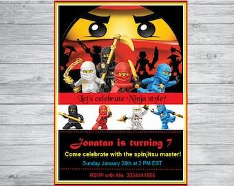 Ninjago  birthday invitation , Ninjago party, Ninjago Birthday, Ninjago invitation
