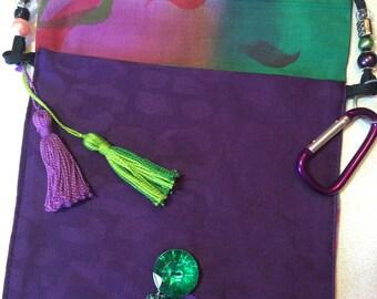 OOAK!! Purple and Green Messenger Bag