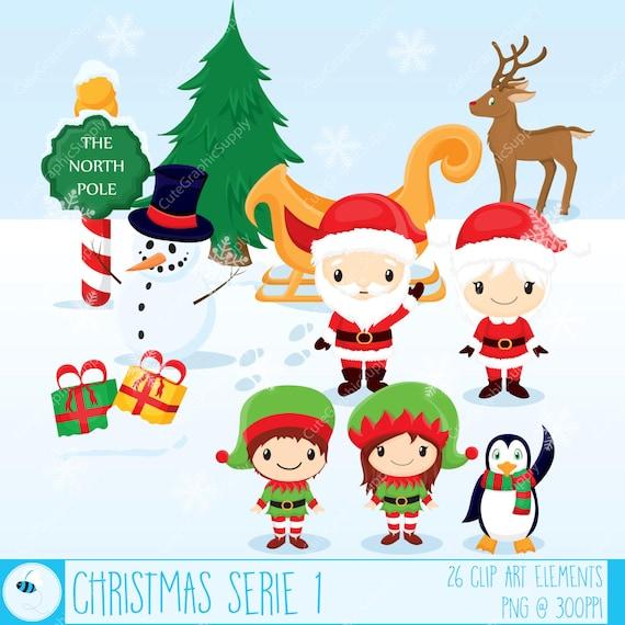 Christmas Clipart, Christmas Clip Art, Santa Clipart, Winter ...