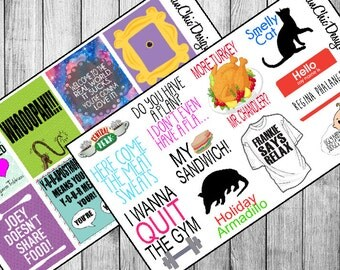19 Friends TV Show Quotes Version 2 | Planner Stickers