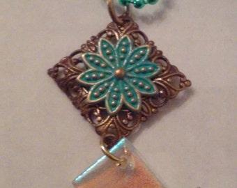 Bronze Desert Flower Pendant