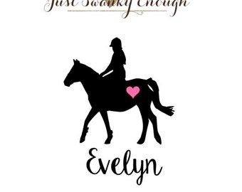 Personalized Equestrian Horse Vinyl Decal