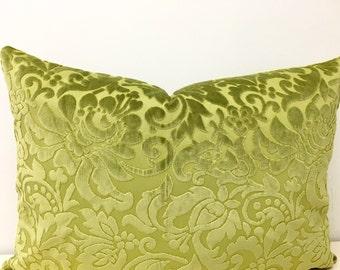 Green Velvet Pillow Cover, Velvet Pillow, Green Pillow Covers, Throw Pillows, Decorative Pillows, Green Velvet Couch Sofa Pillow Covers