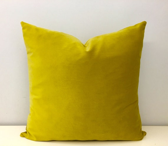 Mustard Velvet Pillow Cover Mustard Pillows by artdecopillow