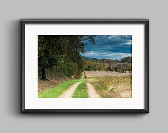 Storm Path, Farm Photography, Weather, Autumn Field, Photo Print