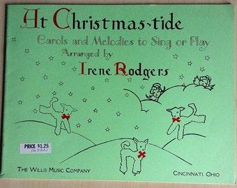 Vintage Christmas Piano Music Book 1935