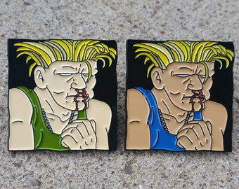 Street Fighter Guile Enamel Lapel Pin