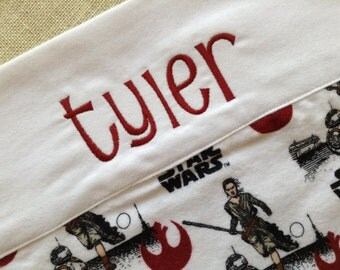 Star Wars Pillowcase, Kids Personalized Pillowcase, Star Wars Bedding