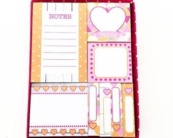 Orange Sticky Notes Set