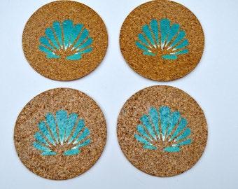 Cork Coasters, Shell coasters, Coastal Coasters, Caribbean Coasters