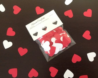 Heart Confetti and Table Scatter