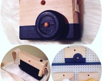 Wooden Camera, Nursery Decor, Photo Prop
