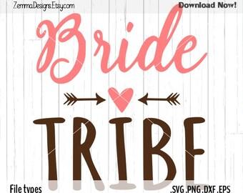 Bride tribe svg - Wedding svg - svg files - svg designs -  svg .DXF .SVG, .PNG Silhouette studio - commercial use* svg - Zemma Designs