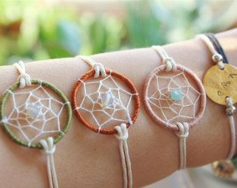 DREAMCATCHER BRACELET MINI coachella version spiritual native american inspired jewelry adjustable one size perfect as a gift handmade
