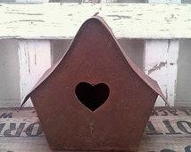 Unique Metal Birdhouses Related Items Etsy