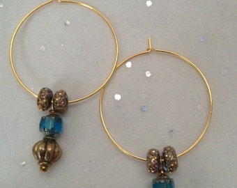 14 k Gold Plated Hoops