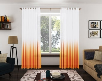 Ombre Sheer Curtains. Pinch Pleat French Pleat Grommet Top Rod Pocket Ombre Sheer Drapery. Gold and White Drapery Panels