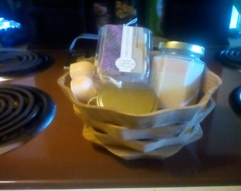 Soy Wax Candle  Gift basket- -Best friend Gift - Teacher Gift- Birthday Gift Basket- Thank You Gift