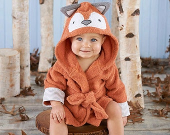 "Infant's Personalized ""Rub a Dub, Fox in the Tub"" Hooded Spa Robe"