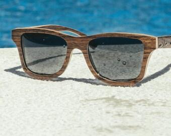 Real Wood Sunglasses Wayfarer Wooden Eyewear Polarized Man Woman Propwood   Handmade