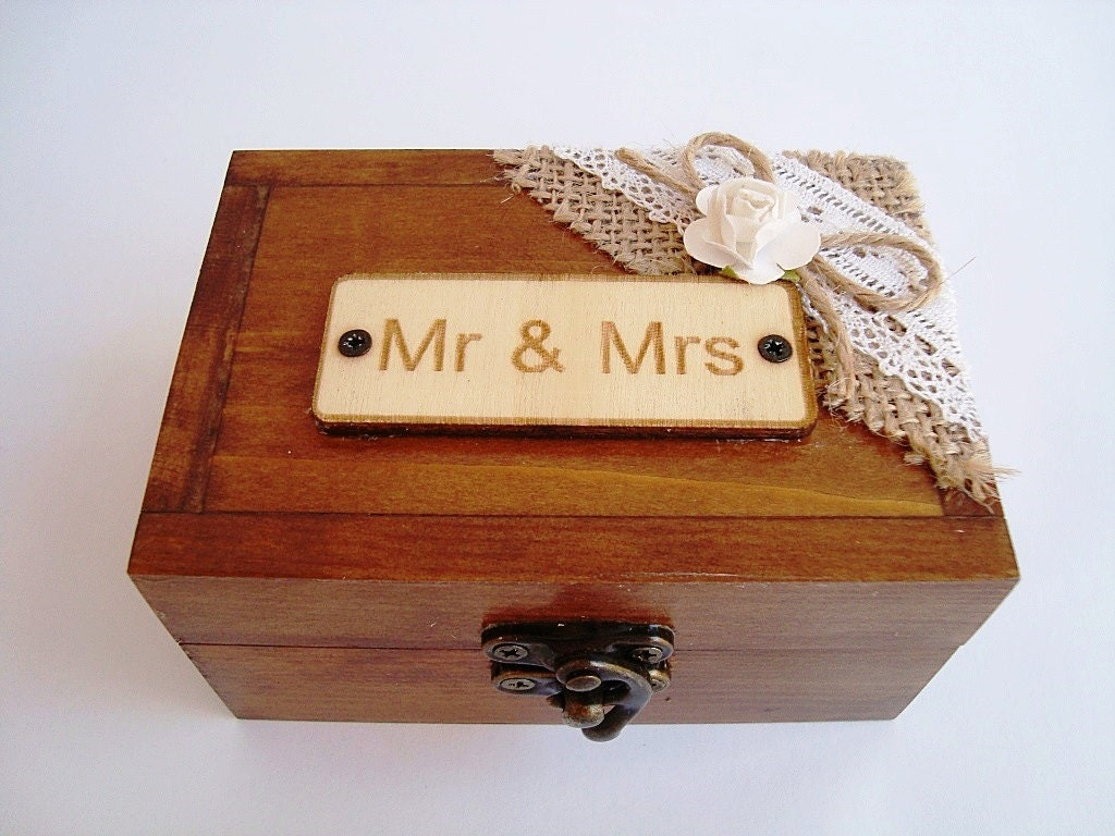 wooden jewelry box wedding rings box ring bearer box by