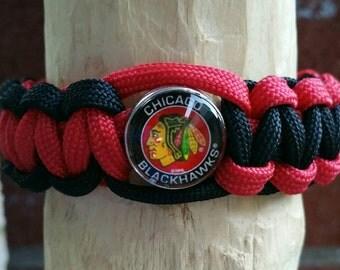 Chicago Blackhawks paracord bracelet (your choice of image )