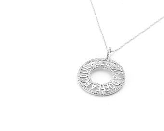 Cubic Zirconia & Sterling Silver 'Courage' Pendant Necklace