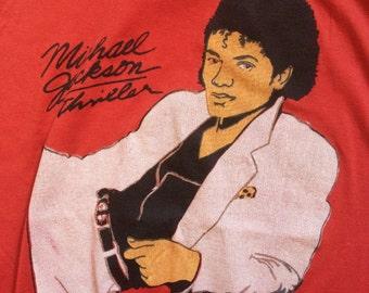 Vintage Michael Jackson Thriller 1980's Sleeveless Hoodie T-shirt