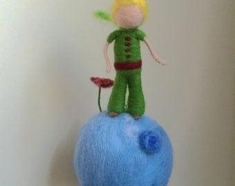 Needle Felted mobile,The Little Prince and his star