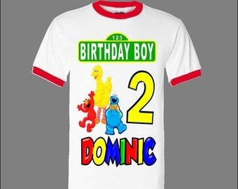 Sesame Street Birthday Shirt - Sesame Street Boy's Birthday Shirt - Ringer