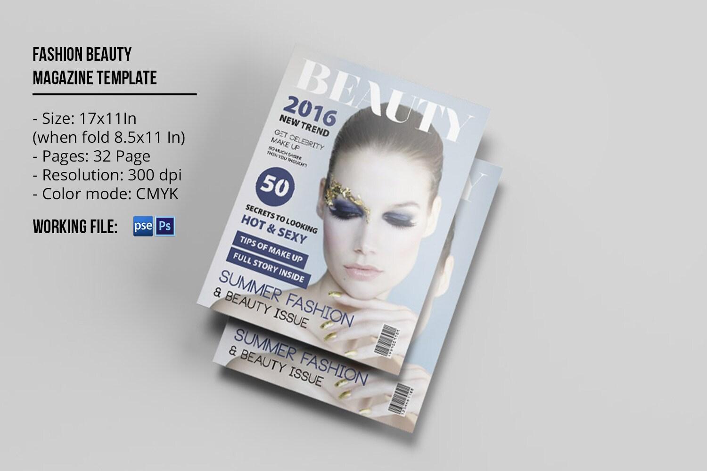 Fashion Beauty Magazine Template Fashion Lookbook