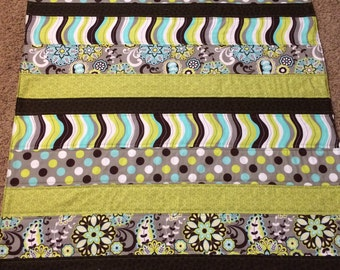 Green and Brown Baby Quilt~ SALE!!