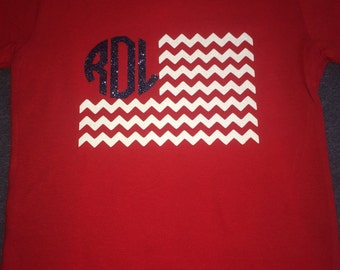 Monogram chevron flag