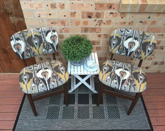 SOLD- Upholstered dining chairs/accent chairs/bedroom chairs , furniture