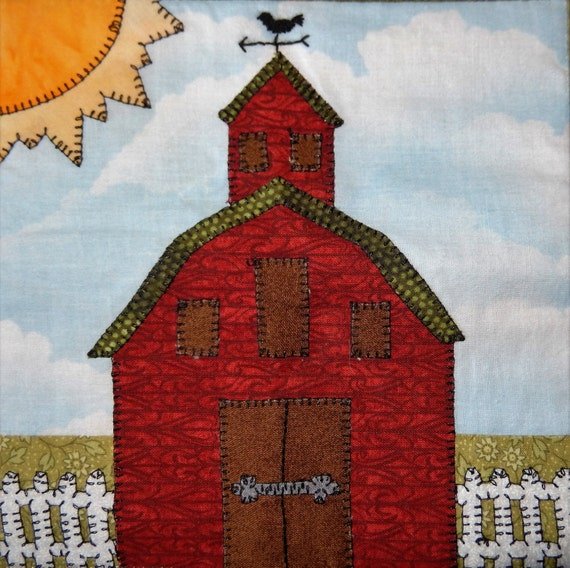 Barn Pdf Applique Pattern Farm Quilt Block By Mspdesignsusa