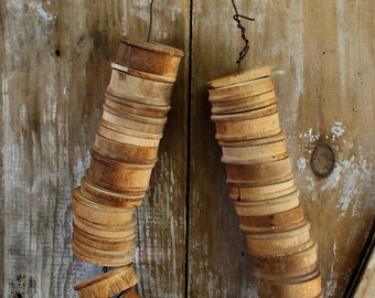 Lots of VINTAGE WOODEN SPOOLS-What were these used for ? Over 28 Spools