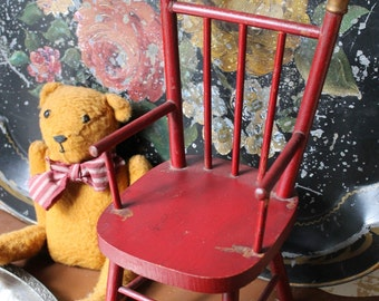 Red TOY DOLL CHAIR