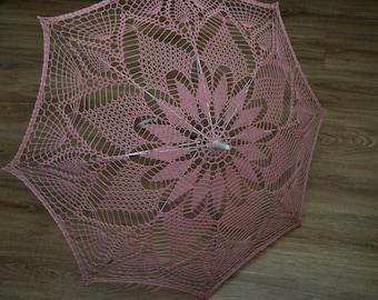 Rose Wedding Crochet Umbrella, Lace Umbrella, Crochet Parasol, Bridal Umbrella, Wedding Accessories, Photo props, Photo session accessories