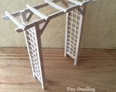 Miniature Garden Arbor, Miniature Furniture, French Country Miniatures, Dollhouse Garden