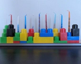 Lego Hannukah Menorah