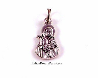 Jesus The Good Shepherd Bracelet Medal Religious Charm | Italian Rosary Parts