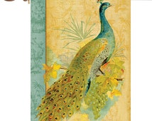 Personalized Garden Flag Fancy Feathers Flag Flag,Peacock Garden Flags,Personalized Garden Flag,,Outdoor Yart Flag Decor,House Outdoor Flags