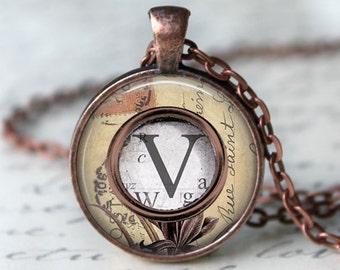 Gift For Her • Typewriter Key Necklace • Custom Letter Necklace • Initial Jewelry • Typewriter Jewelry • Personalized Gift • Shabby Chic