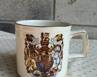 Vintage Commemorative coffee cup of the Royal Marriage, The Prince of Wales and Lady Diana Spencer, Prince Charles and Princess Diana