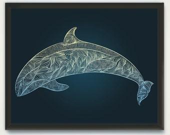 Whale Wall Art, Digital Printable Orca Drawing, Humpback Whale, Orca Print, Whale Print, Printable Wall Art, Killer Whale Line Drawing Print
