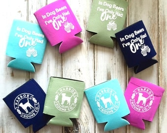 Harbor Hound Can Cooler - Can insulator - coastie - Beverage Cooler - Beverage Insulator - Beer Cooler - Beer Sleeve - coolie - coldy holdy