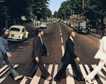 The BEATLES - ABBEY ROAD Poster John Lennon Paul McCartney